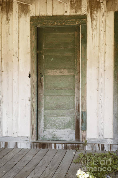 Photograph - Door On Old House In Color 3004.02 by M K Miller