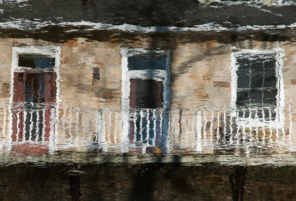Door Reflections 2 In Perth Ontario Art Print