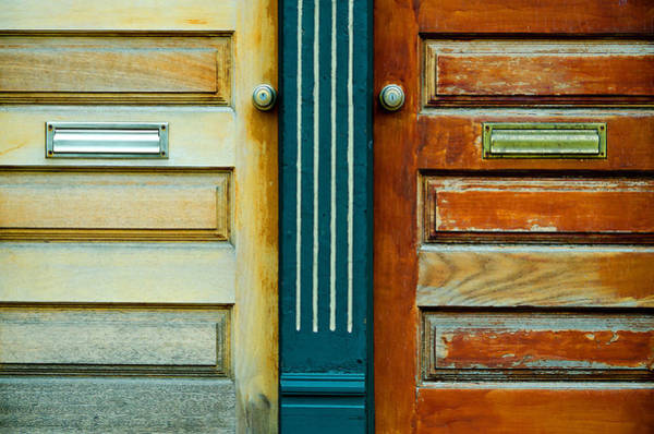 Mail Slot Photograph - Door To Door by KM Corcoran