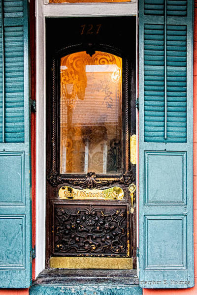 Photograph - Door To Hotel Maison De Ville  by Christopher Holmes
