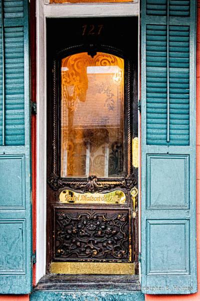 Photograph - Door To Hotel Maison De Ville  by Christopher Holmes