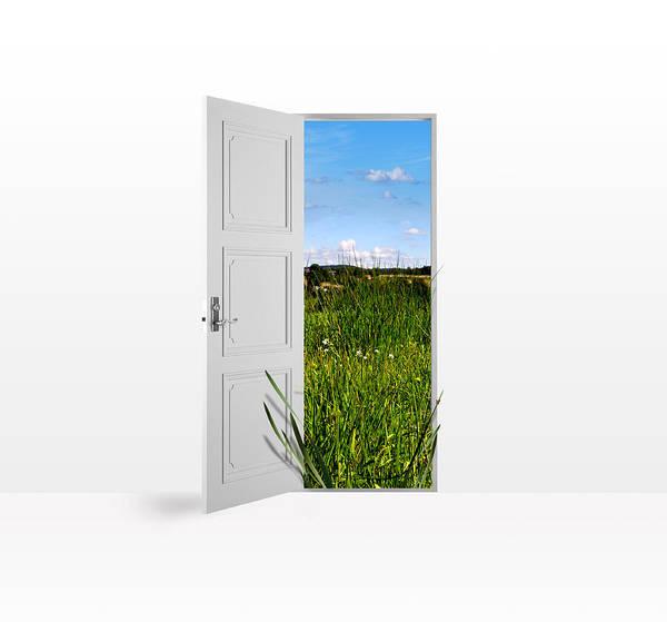 Doorknob Photograph - Door To Nature by Aged Pixel