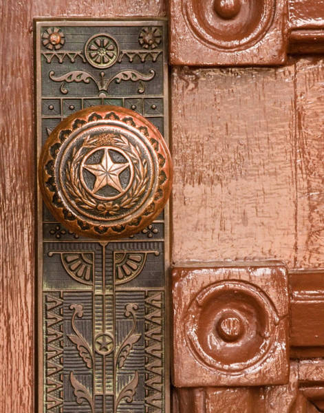 Legislature Photograph - Door To Texas State Capital by David and Carol Kelly