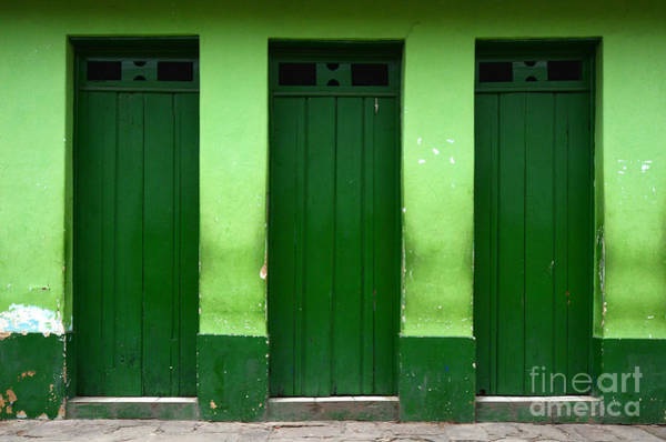 Chapa Photograph - Doors And Windows Lencois Brazil 1 by Bob Christopher