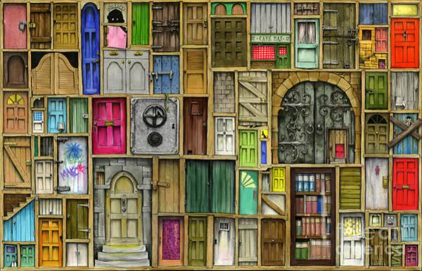 Close Digital Art - Doors Closed by MGL Meiklejohn Graphics Licensing