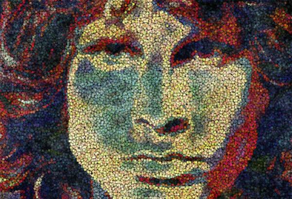 Frontman Wall Art - Painting - Doors Jim Morrison  by Jack Zulli