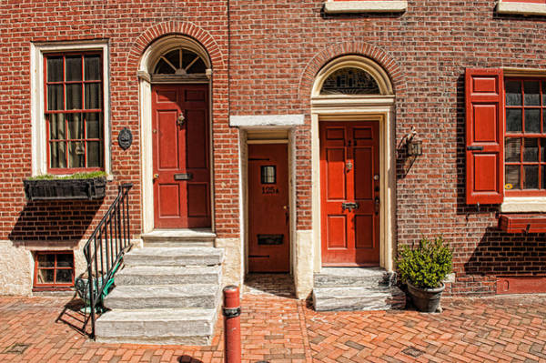 Photograph - Doors Of Elfreths Alley by Keith Swango