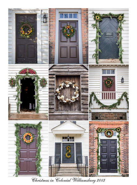 Royal Colony Photograph - Doors Of Williamsburg Collage 2 by Teresa Mucha