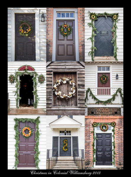 Royal Colony Photograph - Doors Of Williamsburg Collage by Teresa Mucha