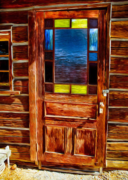 Leaded Glass Painting - Doorway To The Past by Omaste Witkowski