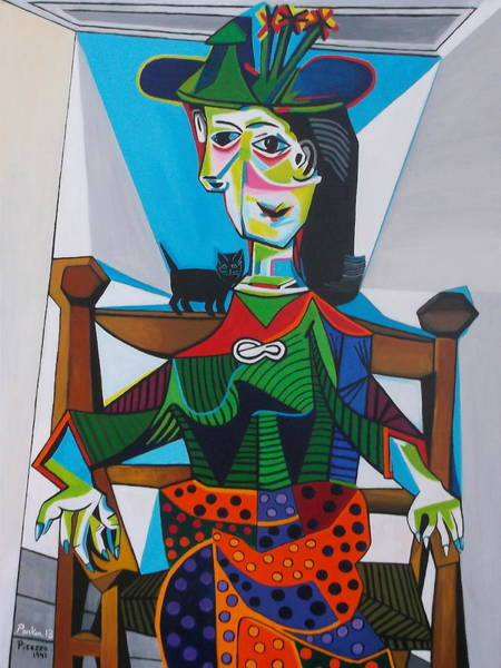 Picasso Painting - Dora Maar Au Chat by Don Parker
