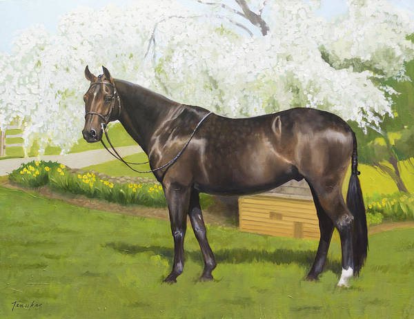Painting - Dorian by Linda Tenukas