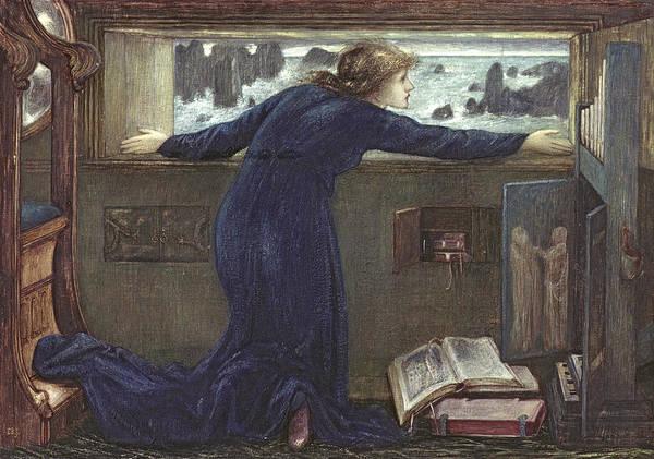 Safe Painting - Dorigen Of Bretaigne Longing For The Safe Return Of Her Husband by Sir Edward Coley Burne-Jones