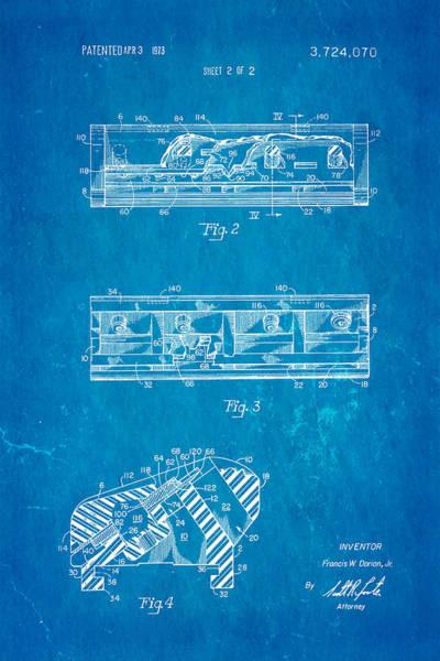 Shaved Photograph - Dorion Twin Blade Razor Patent Art 2 1973 Blueprint by Ian Monk