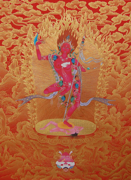 Thangka Painting - Dorje Pagmo by Images of Enlightenment