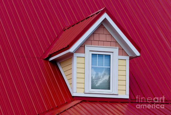 Photograph - Dormer Window On Red Roof by Les Palenik
