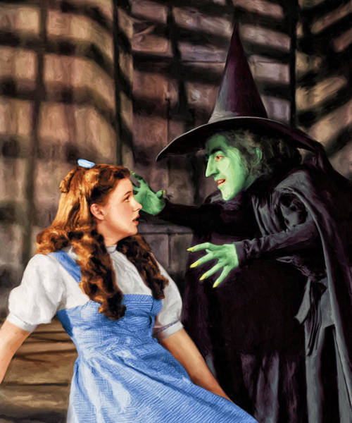 Emerald City Wall Art - Painting - Dorothy And The Wicked Witch by Dominic Piperata