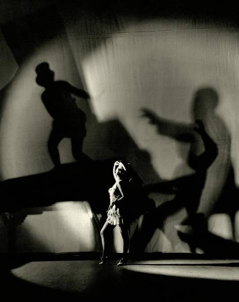 Illuminated Photograph - Dorothy Mackaill With Ominous Shadows by Florence Vandamm