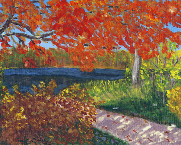 Painting - Dorrs Pond Boatramp by Linda Feinberg