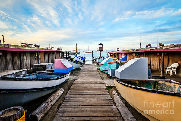 Balboa Photograph - Dory Fishing Fleet Newport Beach California by Paul Velgos