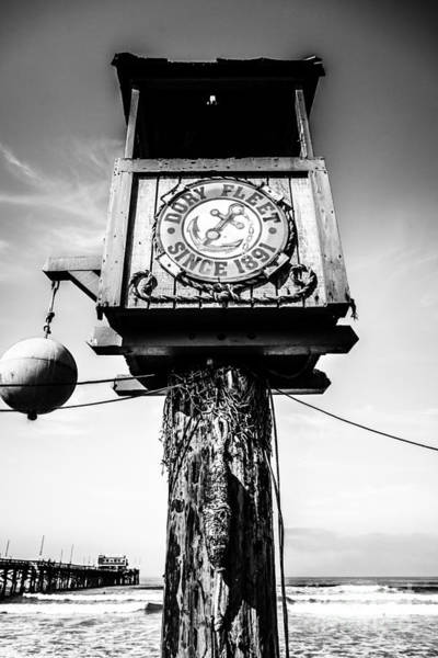 Balboa Photograph - Dory Fleet Crow's Nest Black And White Picture by Paul Velgos