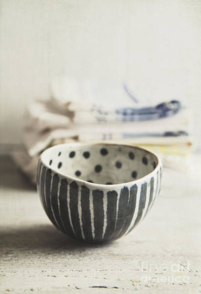 Stoneware Wall Art - Photograph - Dots And Stripes by Elena Nosyreva