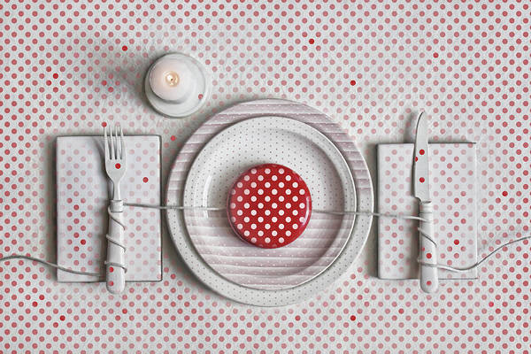 Dotted Dinner Art Print by Dimitar Lazarov -