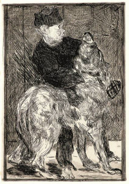 Chien Drawing - Édouard Manet French, 1832 - 1883. The Boy And A Dog Le by Litz Collection