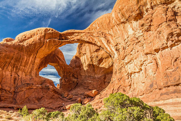 Photograph - Double Arch In Arches National Park Utah by Pierre Leclerc Photography
