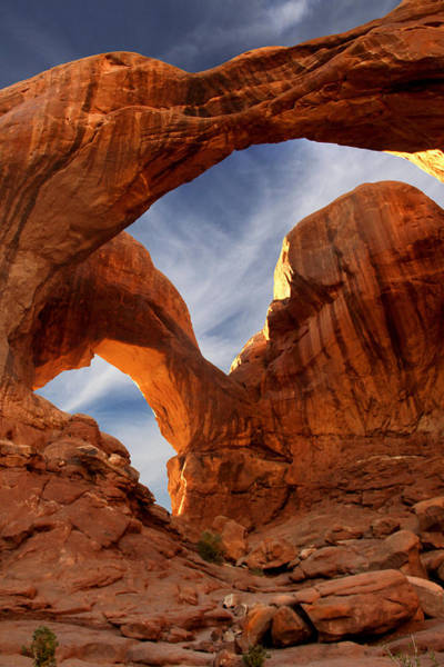 Arches National Park Photograph - Double Arch - Utah by Mike McGlothlen