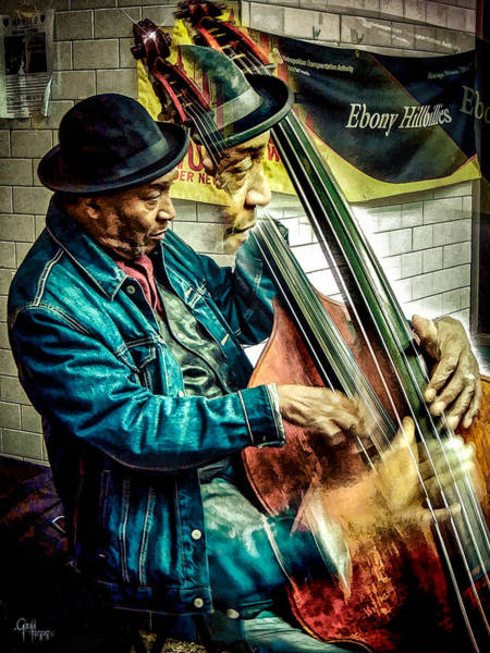 Photograph - Double Bass. Man by Glenn Feron