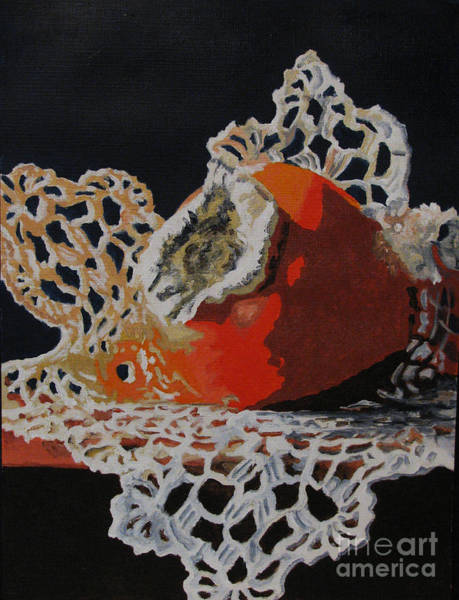 Doily Painting - Double Crochet by Nancie Johnson