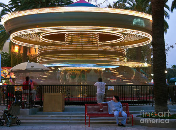 Photograph - Double Deck Carousel by Eddie Yerkish