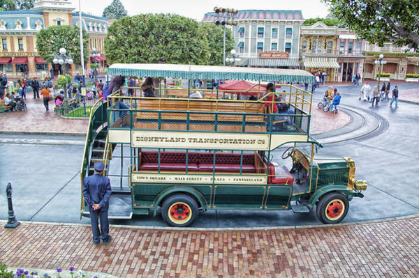 Clothier Photograph - Double Decker Bus Main Street Disneyland 01 by Thomas Woolworth