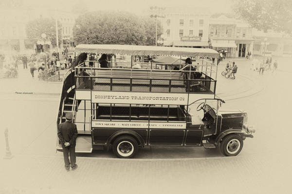 Clothier Photograph - Double Decker Bus Main Street Disneyland Heirloom by Thomas Woolworth