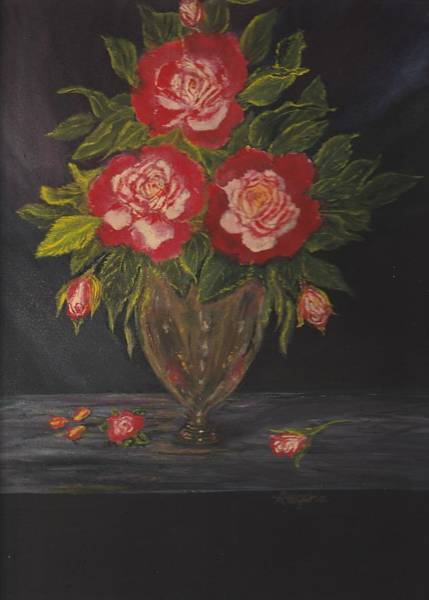 Painting - Double Delight Bouquet by Regina Taormino