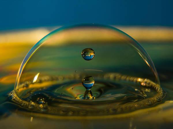 Double Drops Of Water. Art Print