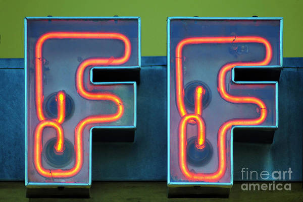 Neon Photograph - Double F by Dan Holm