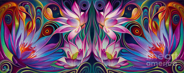 Wall Art - Painting - Double Floral Fantasy 2 by Ricardo Chavez-Mendez