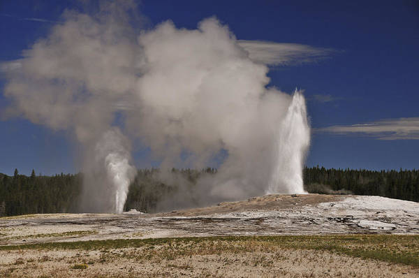 Photograph - Double Geyser by Lee Kirchhevel
