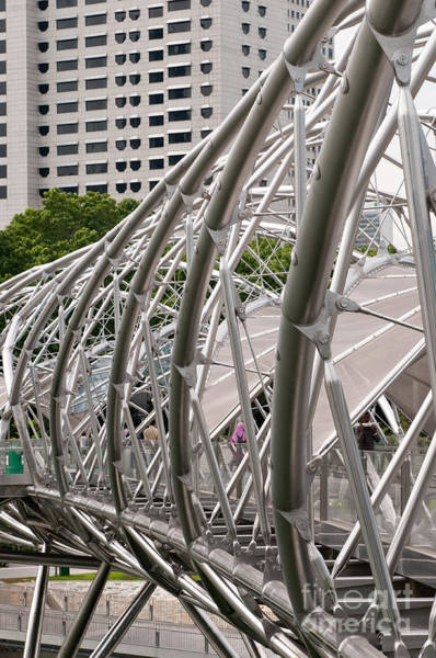 Photograph - Double Helix Bridge 01 by Rick Piper Photography