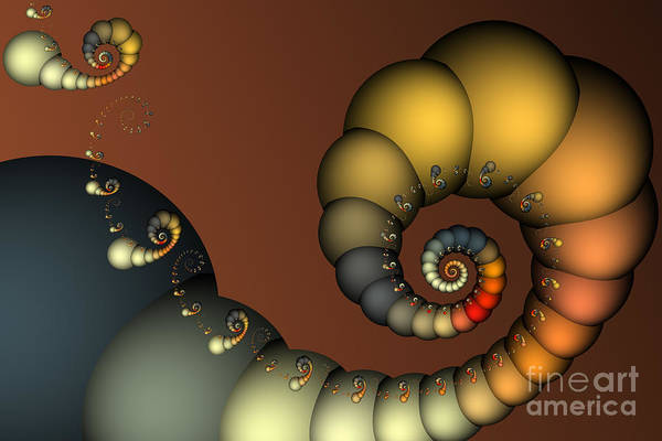 Digital Art - Double Loop by Karin Kuhlmann