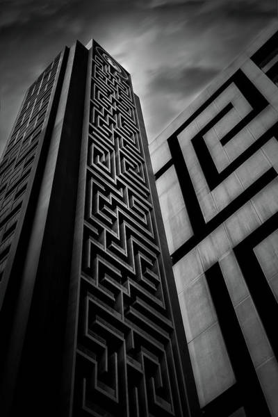 Pillars Wall Art - Photograph - Double Maze by Khalid Jamal