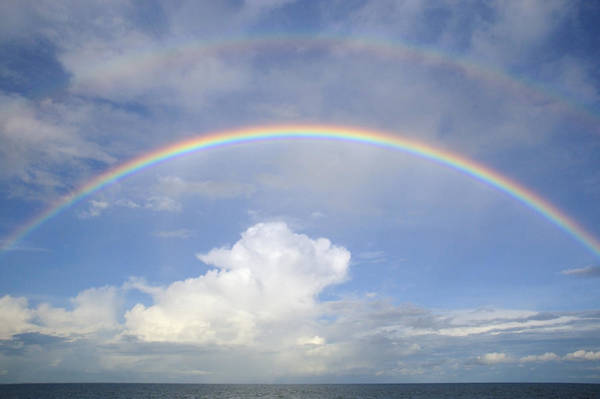 Photograph - Double Rainbow At Sea by Bradford Martin