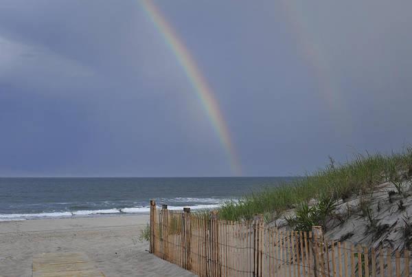 Photograph - Double Rainbow Beach Seaside Park Nj by Terry DeLuco