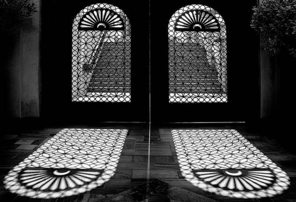 Door Photograph - Double Shade by Hans-wolfgang Hawerkamp