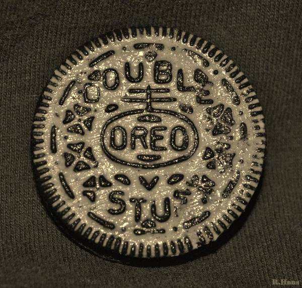 Wall Art - Photograph - Double Stuff Oreo In Sepia Negitive by Rob Hans