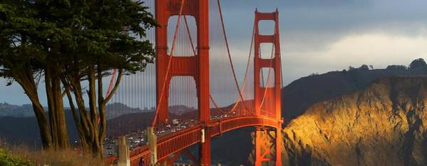 Photograph - double Take on Golden gate by Michael Hope