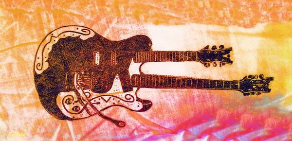 Digital Art - Double Trouble Guitar by Alec Drake