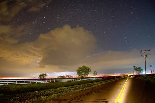 Wall Art - Photograph - Double Yellow Storm Chase by James BO Insogna